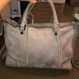 Rebecca Minkoff grey suede leather bag